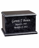 Evermore Rectangular Black Marble Engravable Cremation Urn
