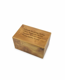 Ex-Small Natural Finish MDF Wood Cremation Urn