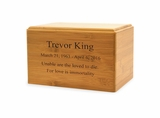 Ex-Small Renewable Bamboo Cremation Urn