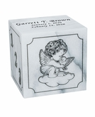Excelsus Angel Infant White Marble Engravable Cremation Urn