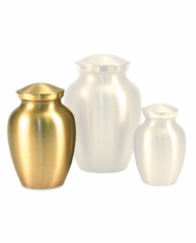 Extra Small Classic Brass Cremation Urn - Engravable