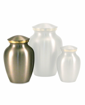 Extra Small Classic Pewter Brass Cremation Urn - Engravable