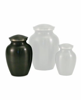 Extra Small Classic Slate Brass Cremation Urn - Engravable