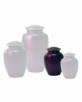 Extra Small Classic Violet Brass Cremation Urn - Engravable