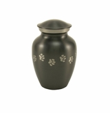 Extra Small Paw Prints Classic Slate Pet Cremation Urn - Engravable