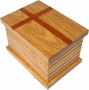 Faith Cremation Urn in Oak, Mahogany or Radiata Wood