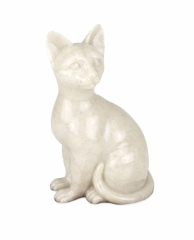 Faithful Feline Sitting Hollow Pet Cremation Urn