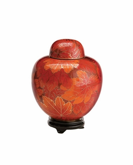 Fall Leaf Keepsake Cloisonne Cremation Urn