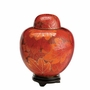 Fall Leaf Medium Cloisonne Cremation Urn