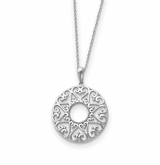 Family Heart Strings Sterling Silver Memorial Jewelry Pendant