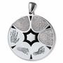 Family Ties Thumbies 3D Fingerprint Sterling Silver Keepsake Memorial Pendant/Charm - Six Prints