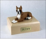 Fawn Boxer Dog Figurine Pet Cremation Urn - 1133