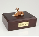 Fawn Boxer Dog Figurine Pet Cremation Urn - 4002