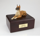 Fawn Great Dane Dog Figurine Pet Cremation Urn - 111