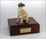 Fawn Great Dane Dog Figurine Pet Cremation Urn - 335