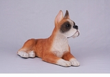 Fawn White Boxer Hollow Figurine Pet Cremation Urn - 2721
