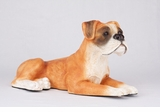 Fawn White Boxer Hollow Figurine Pet Cremation Urn - 2722