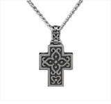 Filigree Cross Sterling Silver Cremation Jewelry Necklace