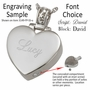 Two Footprints Teardrop Heart Stainless Steel Memorial Cremation Pendant Necklace