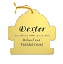 Fire Hydrant Double-Sided Memorial Ornament - Engraved - Gold