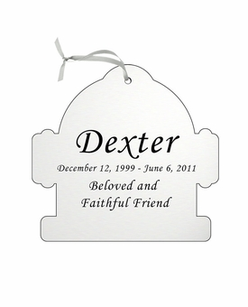 Fire Hydrant Double-Sided Memorial Ornament - Engraved - Silver
