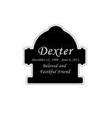 Fire Hydrant Nameplate - Engraved Black and Silver - 1-7/8  x  1-7/8