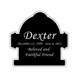 Fire Hydrant Nameplate - Engraved Black and Silver - 2-3/4  x  2-3/4
