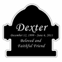 Fire Hydrant Nameplate - Engraved Black and Silver - 3-1/2  x  3-1/2