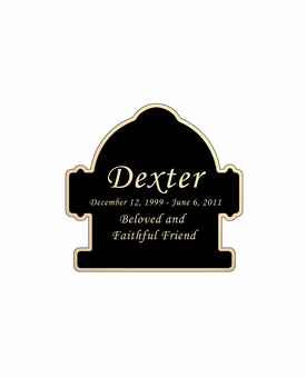 Fire Hydrant Nameplate - Engraved Black and Tan - 1-7/8  x  1-7/8