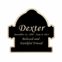 Fire Hydrant Nameplate - Engraved Black and Tan - 2-3/4  x  2-3/4