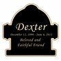 Fire Hydrant Nameplate - Engraved Black and Tan - 3-1/2  x  3-1/2