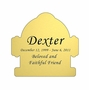 Fire Hydrant Nameplate - Engraved - Gold - 2-3/4  x  2-3/4