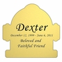 Fire Hydrant Nameplate - Engraved - Gold - 3-1/2  x  3-1/2