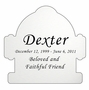 Fire Hydrant Nameplate - Engraved - Silver - 3-1/2  x  3-1/2