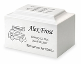 Fire Truck Small Classic Infant or Child Cremation Urn - Engravable