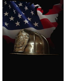 Firefighter Helmet Cast Bronze Cremation Urn