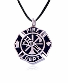 Firefighter Stainless Steel Cremation Jewelry Pendant Necklace