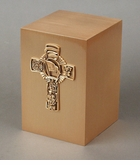 Fireman's Cross Bronze Cremation Urn