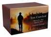 Fisherman at Dawn Eternal Reflections Cherry Finish Wood Cremation Urn