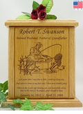 Fisherman Prayer Engraved Wood Cremation Urn