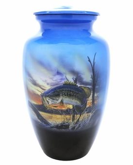 Fishermans Fantasy Picture Cremation Urn