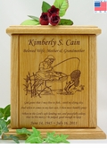 Fisherwoman Prayer Engraved Wood Cremation Urn