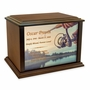 Fishing Reel Eternal Reflections Wood Cremation Urn - 4 Sizes