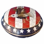 Flag & Eagle Cloisonne Jewel Dish