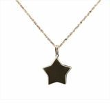 Flat Star 14kt Gold Cremation Jewelry Necklace