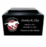 Football  Cremation Urn - Cultured Marble