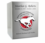 Football  Cremation Urn - Polished Stainless Steel