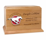 Football  Cremation Urn - Solid Cherry Wood 2