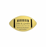 Football Nameplate - Engraved - Gold - 2-3/4  x  1-5/8