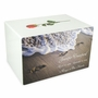 Footprints in the Sand Eternal Reflections II White Finish Cremation Urn